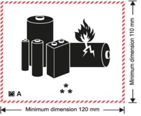 dhl 电池标签